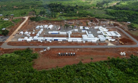 View of the flagship British Ebola treatment facility in Kerry Town. The Scottish nurse diagnosed with the Ebola virus was working at the newly built hospital run by the charity Save the Children.