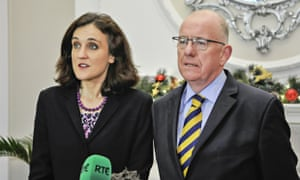 The Northern Ireland secretary, Theresa Villiers, and the Irish foreign minister, Charles Flanaghan, who helped broker the Stormont House agreement.