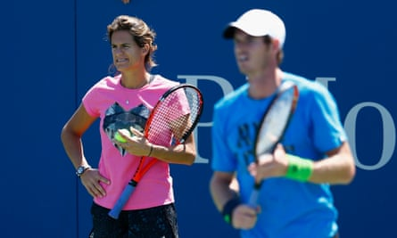 France's former world women's number one, Amélie Mauresmo, coaches Andy Murray.
