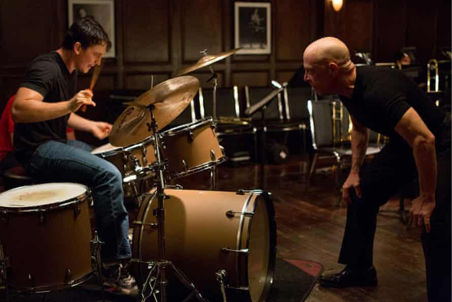 Simmons with Miles Teller in Whiplash.