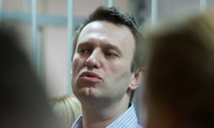 Russian anti-Kremlin opposition leader Alexei Navalny at a court in Moscow on 30 December, 2014.