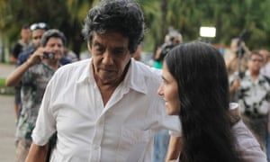Prominent Cuban dissident and blogger Yoani Sanchez, right, with her husband, Reinaldo Escobar, in Havana in 2013.