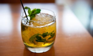 Bourbon-based mint julep.