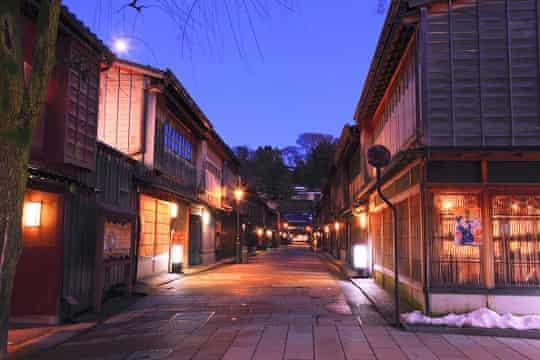 Kanazawa old town.