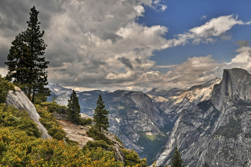 The view from Glacier Point down Yosemite Valley.