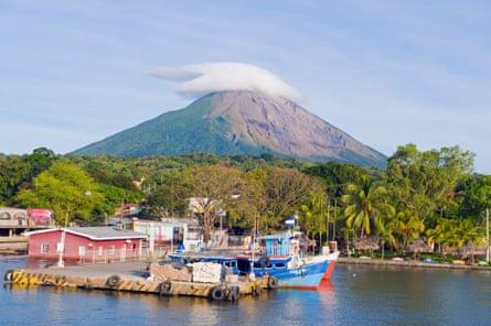 Concepcion volcano and Ometepe island, Nicaragua.