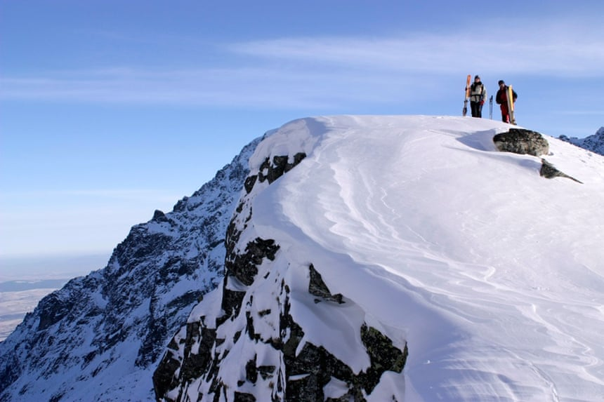 Ski touring in the High Tatras.