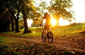 Ashton Court bike trail, Bristol.