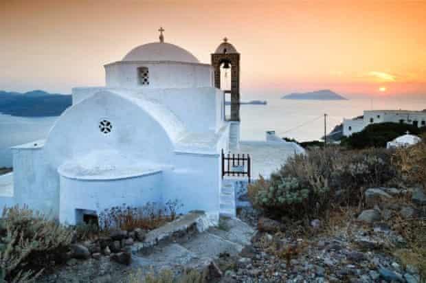 Church on Milos, Greece.