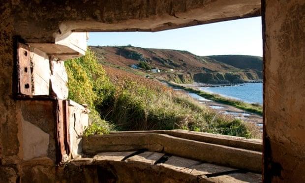 View from a German Bunker on Alderney, Channel Islands.