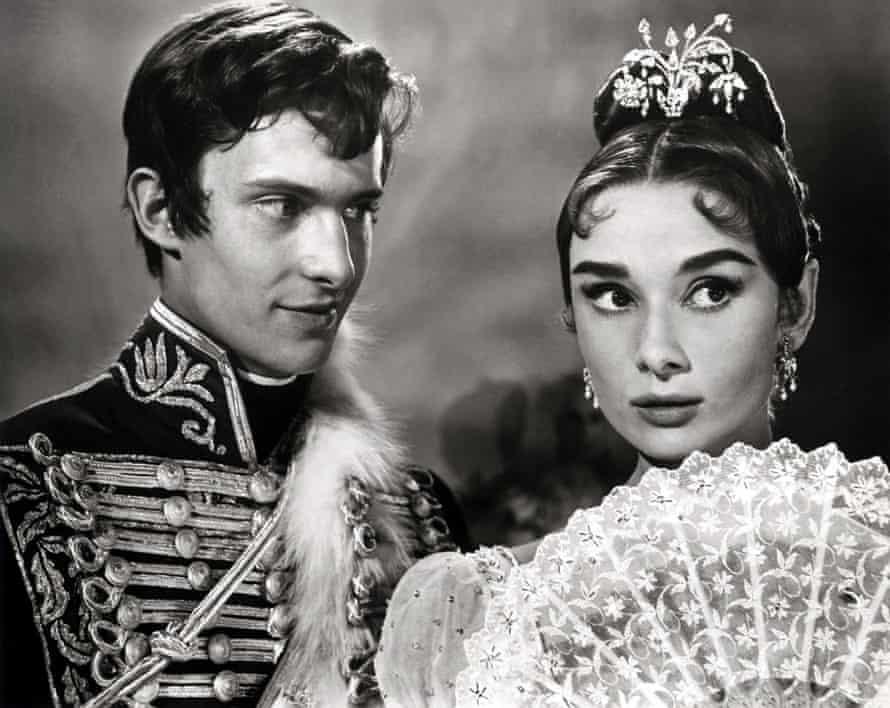 Vittorio Gassman and Audrey Hepburn in King Vidor's 1956 adaptation of War and Peace.