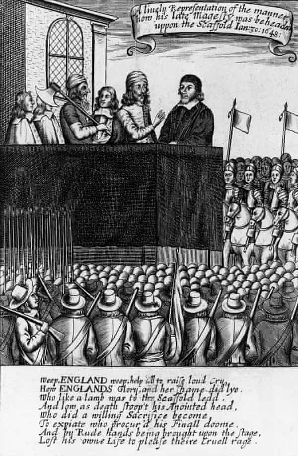 The execution of King Charles I at Whitehall on 30 January 1649