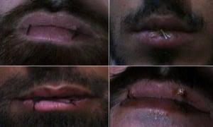 Four Manus Island asylum seekers have sewn their lips