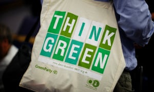 A delegate's bag at the Green party conference