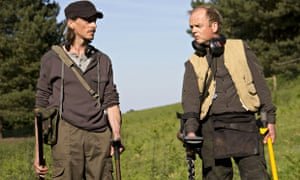Mackenzie Crook as Andy and Toby Jones as Lance in Detectorists.