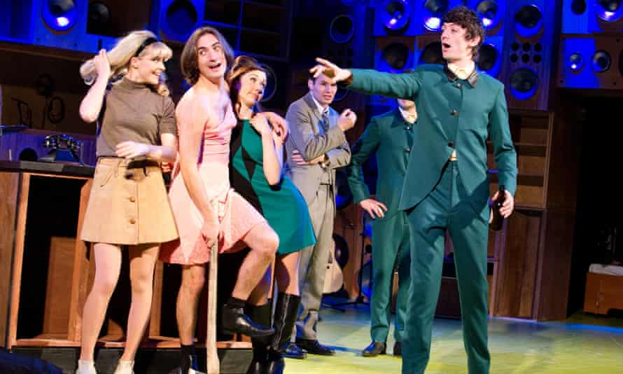'Feral and touching': George Maguire, second left, as Dave Davies in Sunny Afternoon.