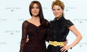 And then there were none … Monica Bellucci and Lea Seydoux at the Spectre press conference.