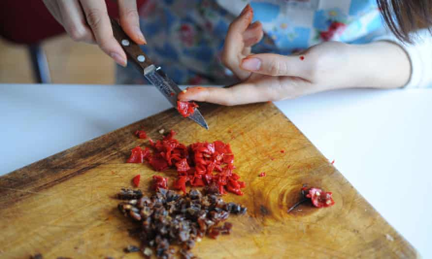 Chop a red chilli
