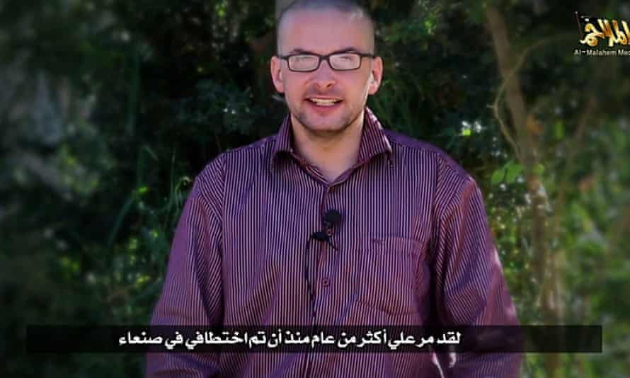 A still from the al-Qaida video shows Luke Somers