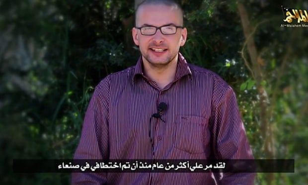 A still from the al-Qaida video shows Luke Somers