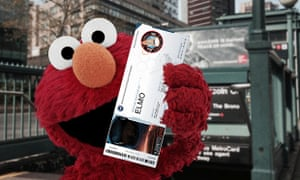 Elmo with Orion ticket