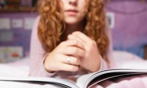 Teenager reading