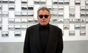 Lewis Baltz, photographer, at one of his exhibitions in Germany in 2012