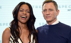 Naomie Harris and Daniel Craig at the Spectre photocall.