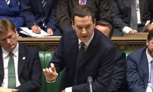 George Osborne delivering the government's autumn statement.