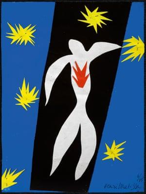 Henri Matisse (1869 -1964)The Fall of Icarus 1943Private CollectionPhoto credit: Alberto RicciArtwork:   Succession Henri Matisse/DACS 2014matissegallery