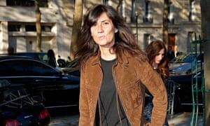 French Vogue editor Emmanuelle Alt at Paris Fashion Week in the autumn