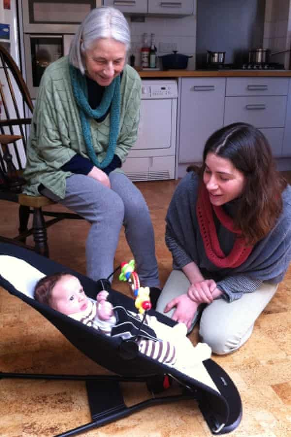 Diski with her daughter Chloe and grandson.