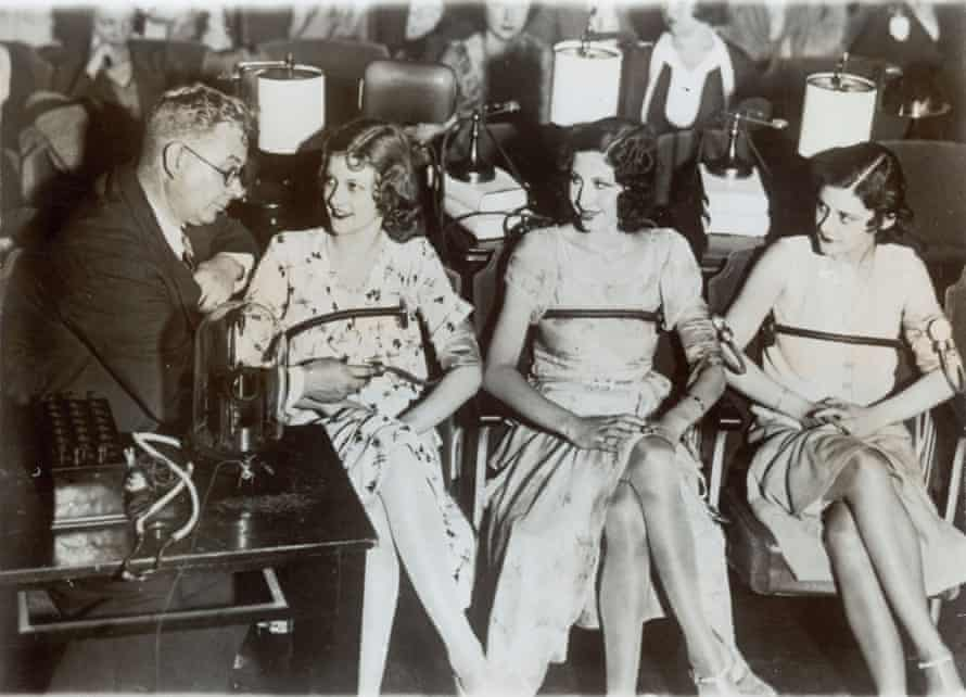 William Marston performs a test to determine which of the three women would make the best gambler.