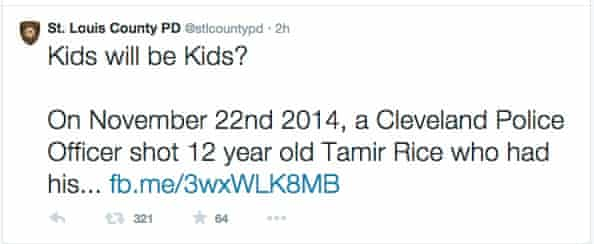 St Louis County police tweet