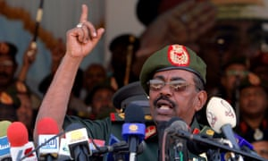 Sudanese president Omar al-Bashir, who has been in power for 25 years.