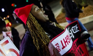 Brittany Morgan 24 During A Demonstration For An Increased Minimum Wage On 4 December
