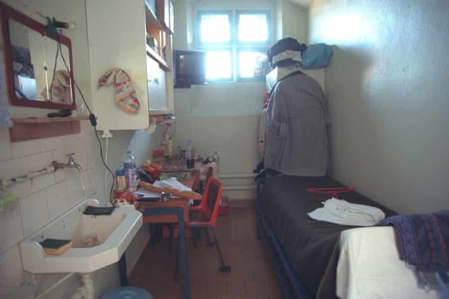 A prisoner's cell in La Santé, 2000.