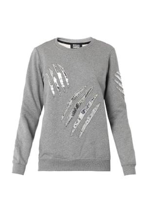 grey claw scratch sweatshirt