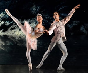 'Confident and expansive': Celine Gittens and Tyrone Singleton in The Nutcracker at Birmingham Hippodrome.