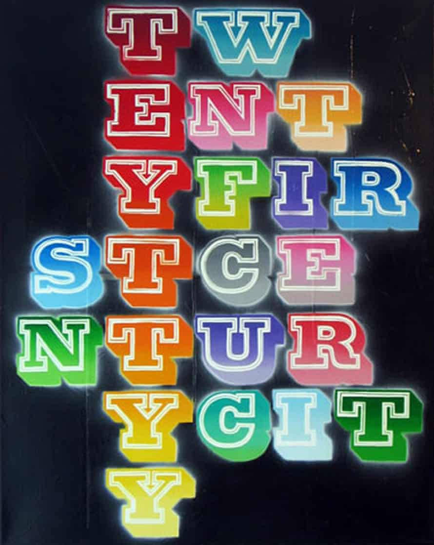 Ben Eine's Twenty First Century City.