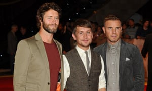 Then there were three … Take That's Howard Donald, Mark Owen and Gary Barlow.