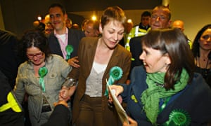 Caroline Lucas after becoming the first Green MP