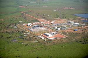 1978: Large oil fields are discovered, first in the Upper Nile and southern Kordofan regions and then throughout the south  Central Processing Facility (CPF) of the Thar Jath oil field in South Central Sudan