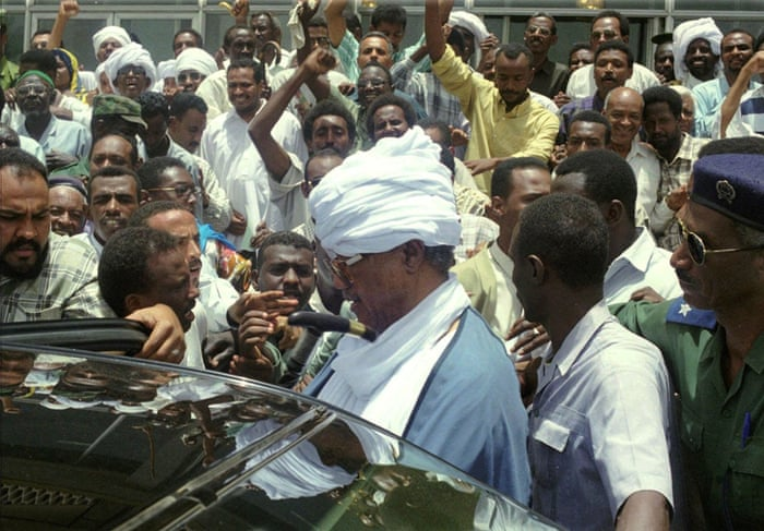 1985  Jaafar Nimeiri, who seized power in 1969 and later applied sharia law throughout the country, is deposed by a popular revolt and goes into exile in Egypt. He returns to Sudan in 1999. Former Sudanese president Gaafar Nimeri addresses thousands of his supporters in Khartoum, four days after his return from Egypt where he had spent 14 years in exile