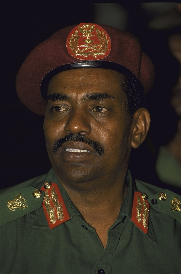 "1989: Omar al-Bashir seizes power, and remains head of state until today. His government enforces Islamic code throughout Sudan, banning trade unions, political parties, and other ""non-religious"" institutions"