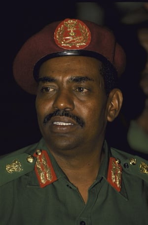"""1989: Omar al-Bashir seizes power, and remains head of state until today. His government enforces Islamic code throughout Sudan, banning trade unions, political parties, and other """"non-religious"""" institutions"""