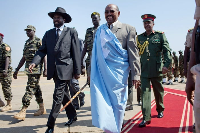 2010: Sudan goes to the polls, the first national elections in 24 years.  Key opposition parties boycott the process and there are widespread charges of fraud. Bashir is elected president with 68% of the vote. In the south, Salva Kiir wins with 75% of the vote. Kiir assumed leadership of the SPLM and its armed wing, the SPLA, after Garang's death Sudanese President Omar al-Bashir (R) is welcomed by southern leader Salva Kiir (L) at Juba International airport on January 4, 2010.