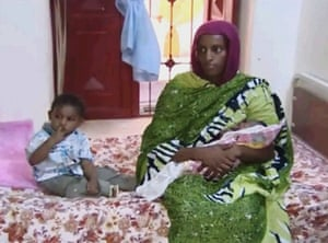 2014 Sudan faces international condemnation for sentencing a woman to death because of her Christian faith. After an international outcry Meriam Ibrahim, who gave birth to a child while shackled to the floor of her cell, is later released . Meriam Ibrahim, sitting next to Martin, her 18-month-old son, holds her newborn baby girl that she gave birth to in a prison in Khartoum, Sudan