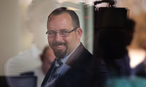 Ricky Muir arrives at the Senate on Wednesday.