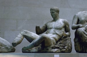 A male figure from the pediment of the Parthenon
